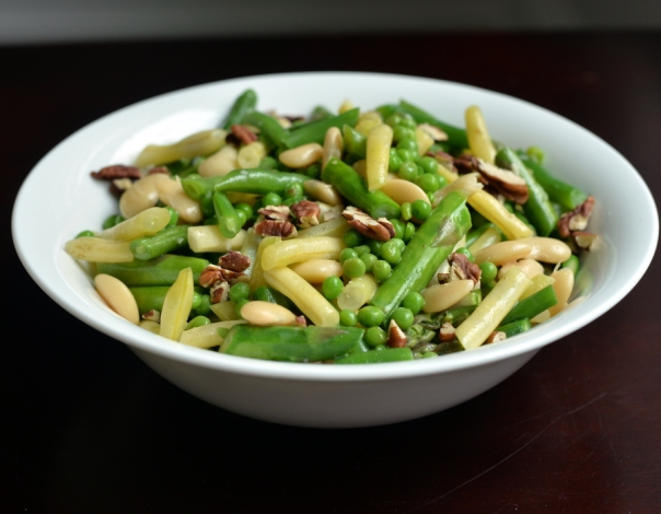 Three-Bean Garden Salad with Asparagus and Coconut Dressing + Whole Bowls cookbook GIVEAWAY