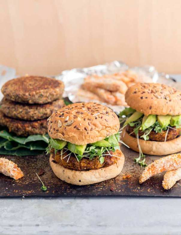 Sundried Tomato & Coconut Quinoa Burgers + Superfoods 24/7 cookbook GIVEAWAY