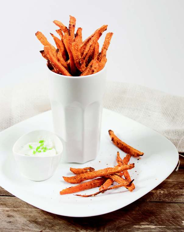 Cheezy Chili Sweet Potato Fries + Naturally Lean cookbook GIVEAWAY
