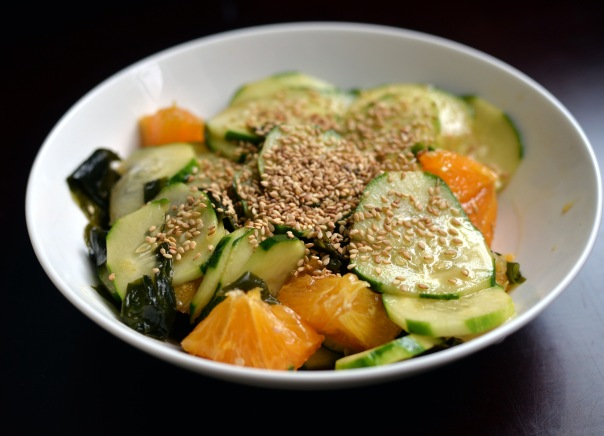 Orange Wakame Cucumber Salad + Organic Cook's Bible giveaway