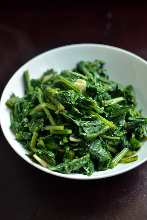 Garlic Sauteed Beet Greens