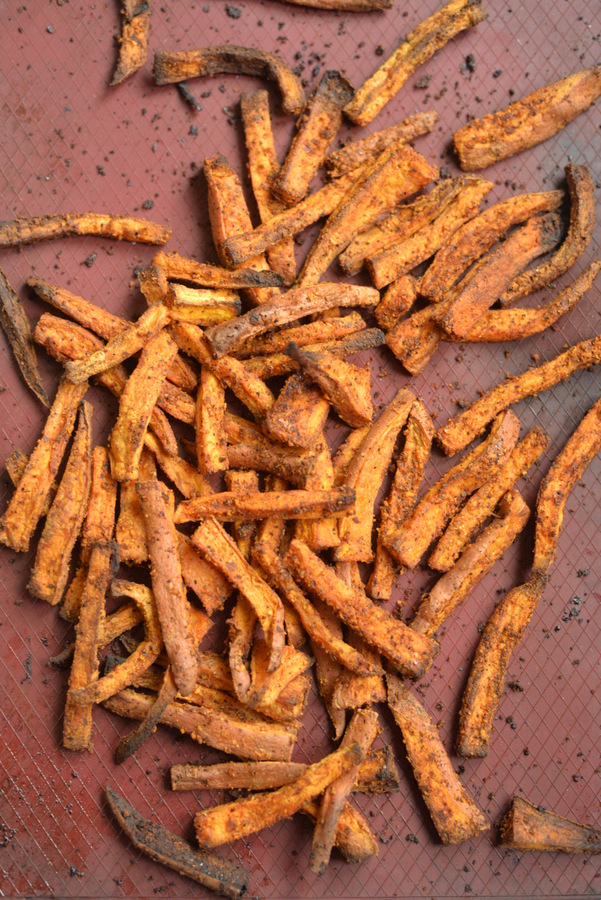 Cheezy Chili Sweet Potato Fries