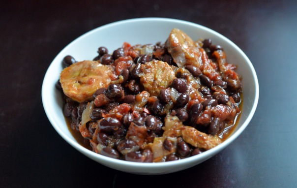 Slow Cooker Black Bean and Plantain Chili