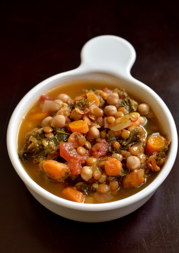 Autumn Chickpea and Lentil Soup