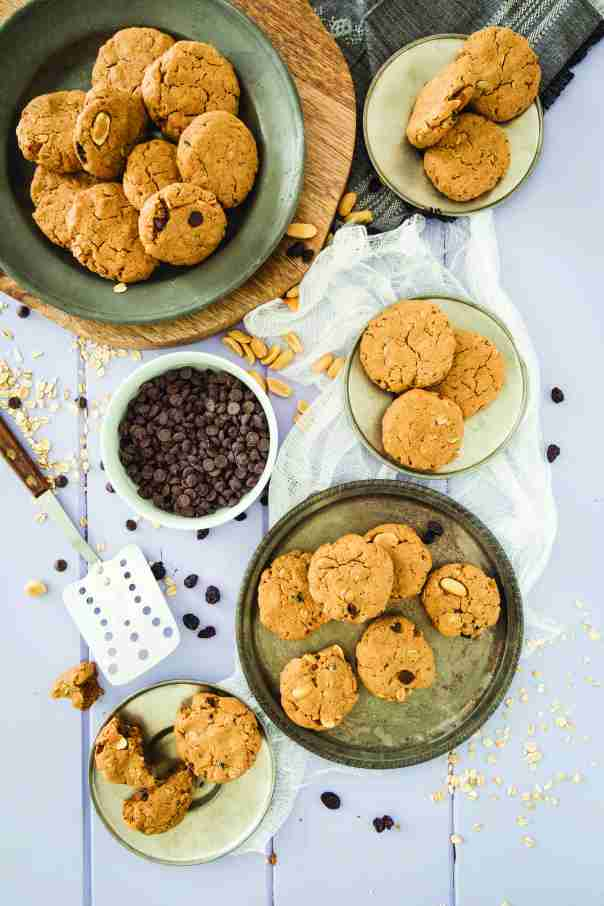 Peanut Butter Oatmeal Cookies + But My Family Would Never Eat Vegan! cookbook GIVEAWAY