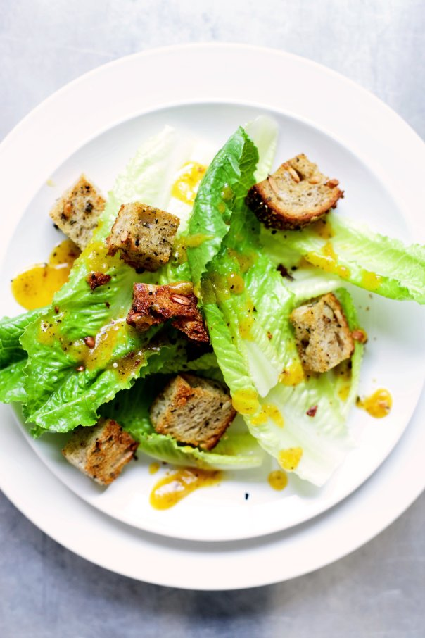 Purely Pumpkin - Pumpkin Caesar Salad with Sage Sourdough Croutons