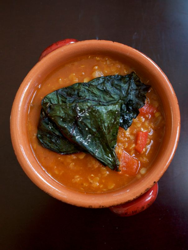 Red Lentil Soup with Roasted Garlic Chard + Awesome Vegan Soups